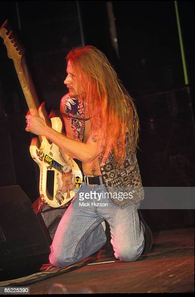 Guitarist Jerry Cantrell from rock group Alice In Chains performs live on stage circa 1993