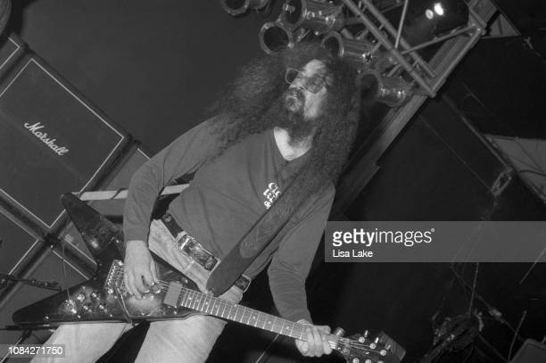 Guitarist Jim Martin of Faith No More performs at Airport Music Hall on October 6, 1992 in Bethlehem, Pennsylvania.
