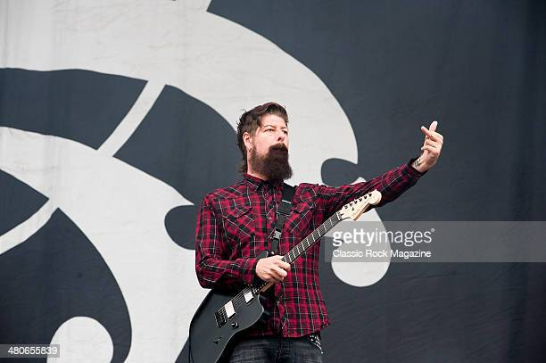 Guitarist Jim Root of American hard rock group Stone Sour performing live on the Main Stage at Download Festival on June 16 2013