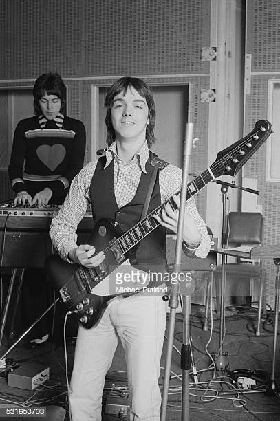 Guitarist Jimmy McCulloch of British rock group Wings at Abbey Road Studios to record the album 'Venus And Mars' London 15th November 1974 Singer and...