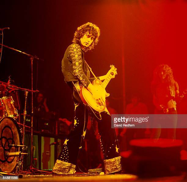 GARDEN Photo of Jimmy PAGE and LED ZEPPELIN Jimmy Page performing live onstage during filming for 'The Song Remains The Same'