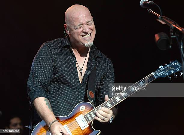 Guitarist Jimmy Stafford of Train performs onstage during 2015 KAABOO Del Mar at the Del Mar Fairgrounds on September 20, 2015 in Del Mar, California.