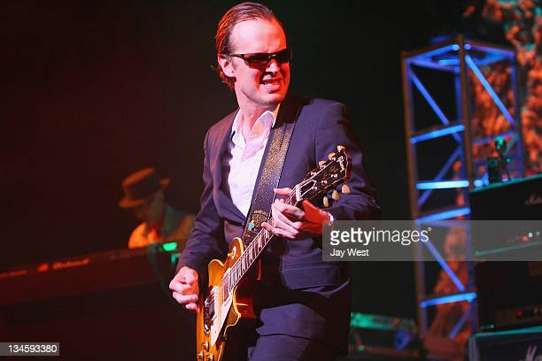 Guitarist Joe Bonamassa performs in concert at ACL Live on December 2 2011 in Austin Texas