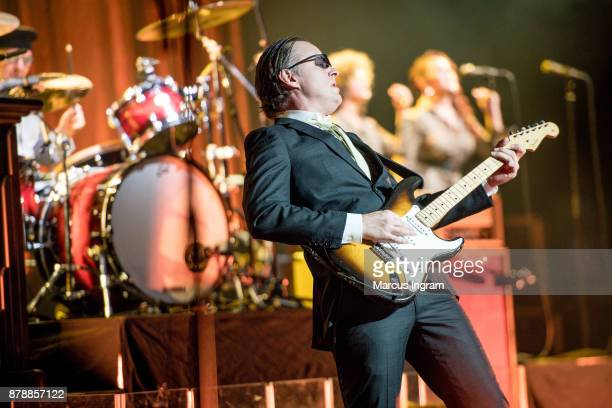 Guitarist Joe Bonamassa performs onstage at Fox Theatre on November 24 2017 in Detroit Michigan