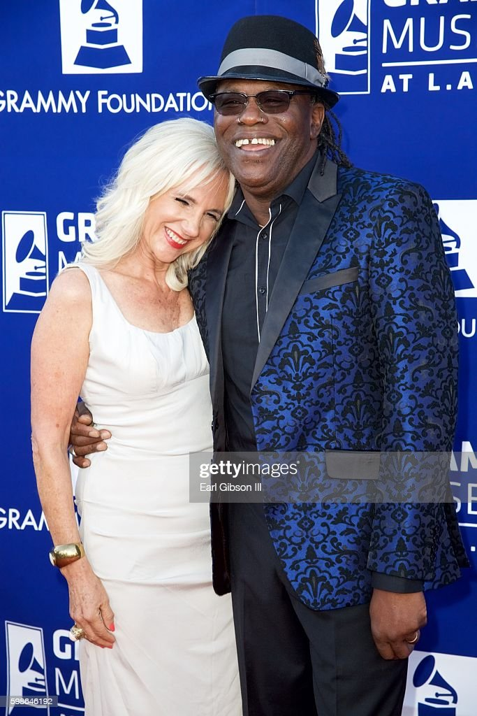 Guitarist Joe Louis Walker (R) attends the GRAMMY Foundation's 'Icon: The Life And Legacy Of B.B. King at Wallis Annenberg Center for the Performing Arts on September 1, 2016 in Beverly Hills, California.