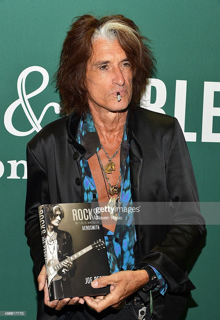 Guitarist Joe Perry of Aerosmith promotes his book 'Rocks: My life in and out of Aerosmith' at Barnes & Noble Union Square on October 7, 2014 in New York City.