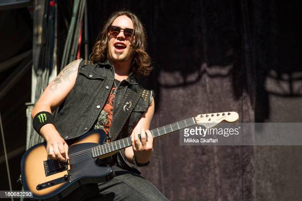 Guitarist Joe Storm of Halestorm performs in Monster Energy's Aftershock Festival at Discovery Park on September 15 2013 in Sacramento California