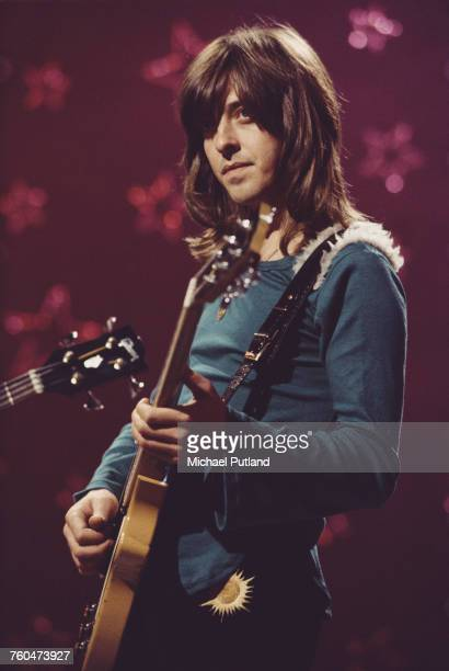 Guitarist Joey Molland of British rock band Badfinger filming a performance of 'Day After Day' to be used as an insert for the 'Top Of The Pops'...