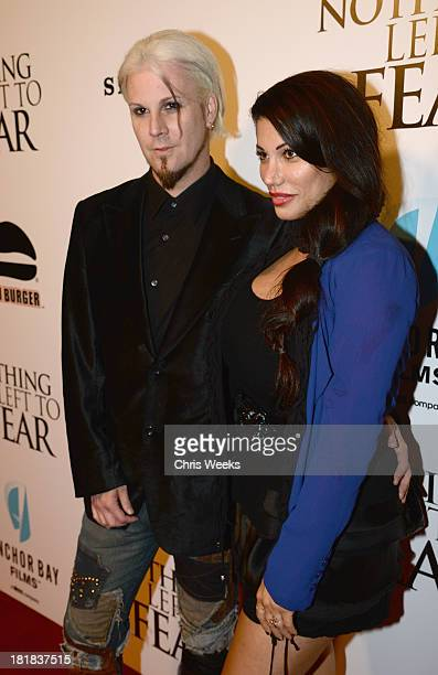 Guitarist John 5 and wife Rita Lowery attend the advanced screening of Nothing Left To Fear presented by Anchor Bay and Fandango at ArcLight Cinemas...