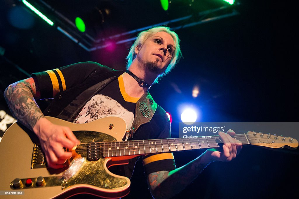 Guitarist John 5 of Rob Zombie performs at the Rock Against MS benefit concert at The Whisky a Go Go on March 27, 2013 in West Hollywood, California.
