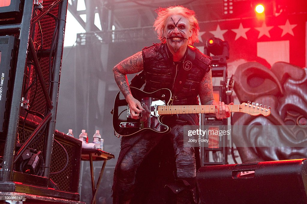 Guitarist John 5 of Rob Zombie performs onstage during the 2010 Rock On The Range festival at Crew Stadium on May 23, 2010 in Columbus, Ohio.