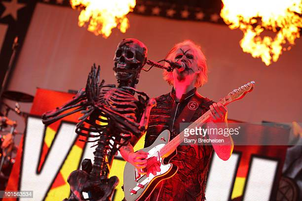 Guitarist John 5 of the Rob Zombie band performs during the 2010 Rock On The Range festival at Crew Stadium on May 23 2010 in Columbus Ohio