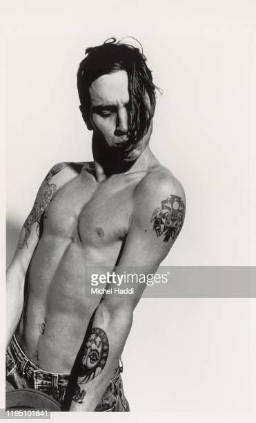 Guitarist John Frusciante of Red Hot Chili Peppers is photographed for Interview magazine in 1989 in Berlin, Germany.