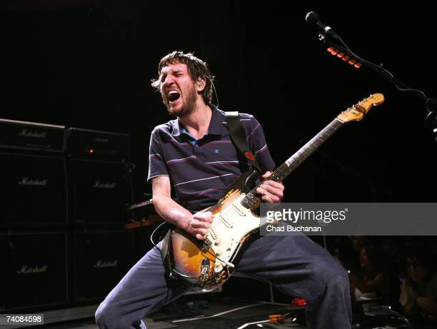 Guitarist John Frusciante of the Red Hot Chili Peppers performs at the 3rd Annual Hullabaloo to benefit the Silverlake Conservatory at the Music Box...