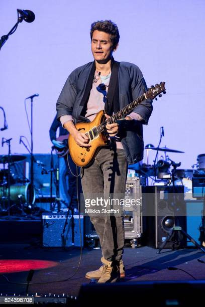 Guitarist John Mayer performs at Shoreline Amphitheatre on July 29 2017 in Mountain View California