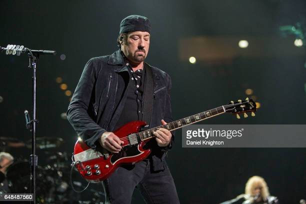 Guitarist John Shanks of Bon Jovi performs on stage during the 'This House Is Not For Sale' Tour at Viejas Arena on March 5 2017 in San Diego...