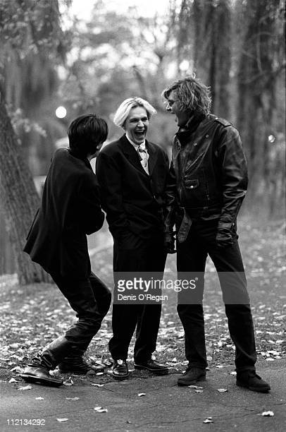Guitarist John Taylor keyboardist Nick Rhodes and singer Simon le Bon of Duran Duran in London 1988