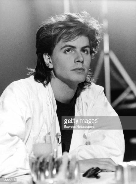 Guitarist John Taylor of the British pop group Duran Duran 1984