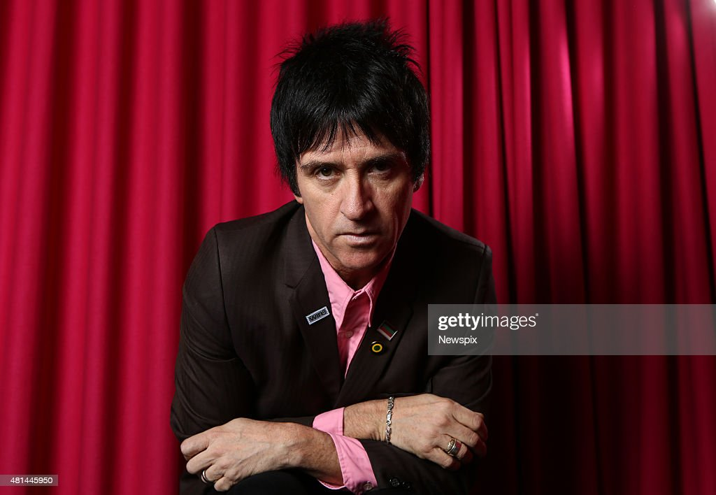 Guitarist Johnny Marr from English rock band 'The Smiths' poses during a photo shoot in Sydney, New South Wales.
