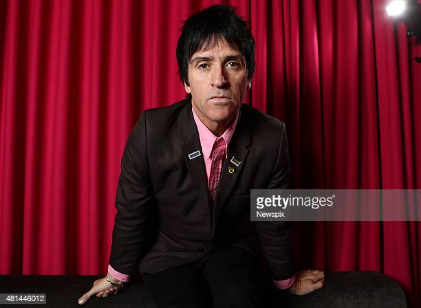 Guitarist Johnny Marr from English rock band 'The Smiths' poses during a photo shoot in Sydney New South Wales