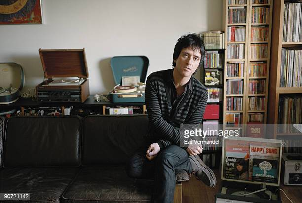 Guitarist Johnny Marr poses for a portrait shoot in Manchester on November 12 2008