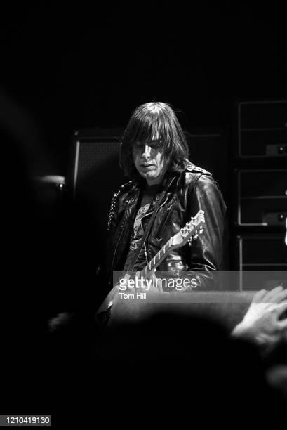 Guitarist Johnny Ramone of the punk-rock band The Ramones performs at Atlanta Municipal Auditorium on February 25, 1978 in Atlanta, Georgia.
