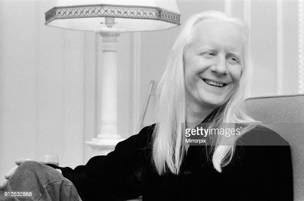 Guitarist Johnny Winter at the Mayfair Hotel 25th October 1974