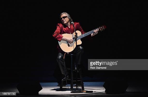 Guitarist Jose Feliciano performs onstage at Latino Inaugural 2013 In Performance at Kennedy Center at The Kennedy Center on January 20 2013 in...