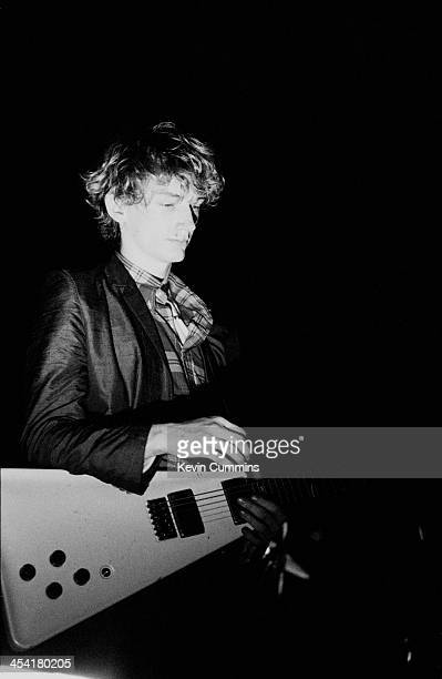 Guitarist Keith Levene on stage with Public Image Ltd at the Queen's Hall Leeds 8th September 1979