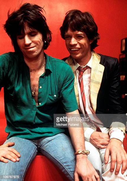 Guitarist Keith Richards and singer Mick Jagger of the Rolling Stones in New York City in May 1978