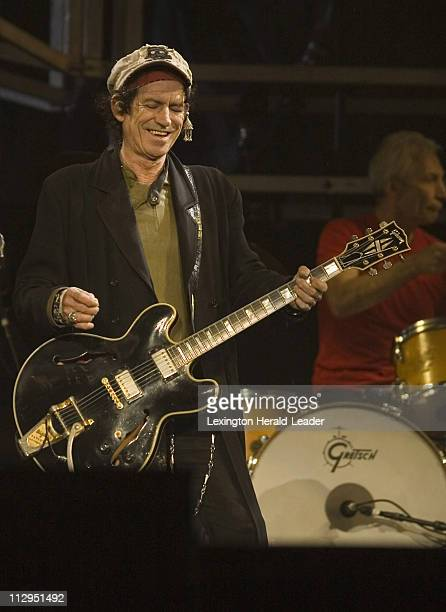 Guitarist Keith Richards and The Rolling Stones play Churchill Downs in Louisville Kentucky Friday September 29 2006