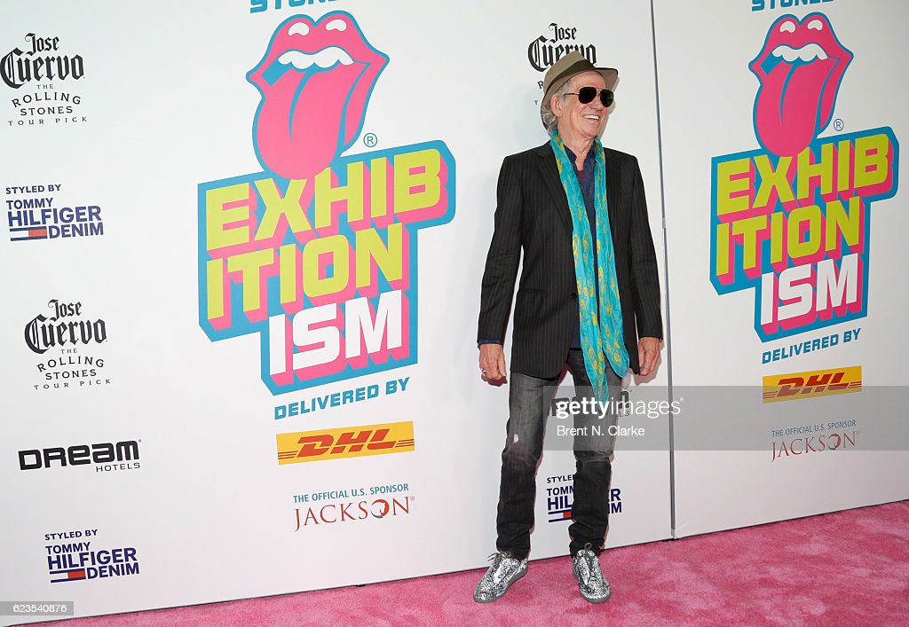 Guitarist Keith Richards attends The Rolling Stones Exhibitionism opening night held at Industria Superstudio on November 15, 2016 in New York City.
