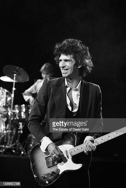 Guitarist Keith Richards of The Rolling Stones during a rehearsal at SIR Studios on June 30 1981 in New York City New York