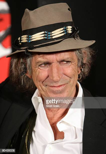"Guitarist Keith Richards of the Rolling Stones during Paramount Pictures' press conference for ""Shine A Light"" at the New York Palace Hotel on March..."