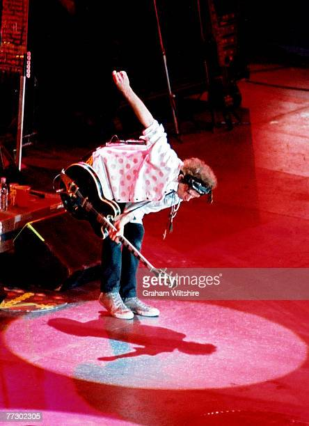 Guitarist Keith Richards of the Rolling Stones takes a bow at a concert at Wembley Arena during the 'Licks' Tour 15th September 2003