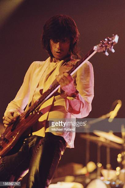 Guitarist Keith Richards performing with the Rolling Stones circa 1976