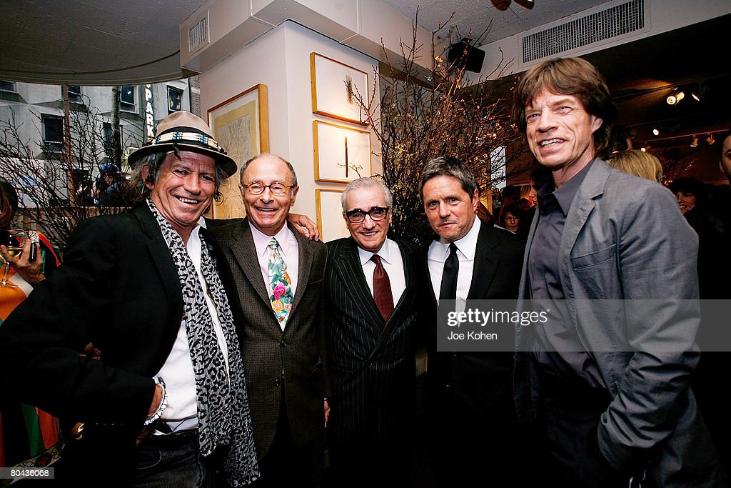 Guitarist Keith Richards, Variety Editor Peter Bart, Director Martin Scorsese, CEO of Paramount Pictures Brad Grey and Singer Mike Jagger attend the Daily Variety Gotham's 10th Anniversary party on March 30, 2008 in New York City.