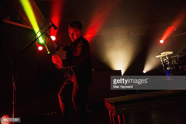 Guitarist Kenneth Harris of Panic At the Disco performs on stage at The Showbox Sodo on January 14 2014 in Seattle Washington