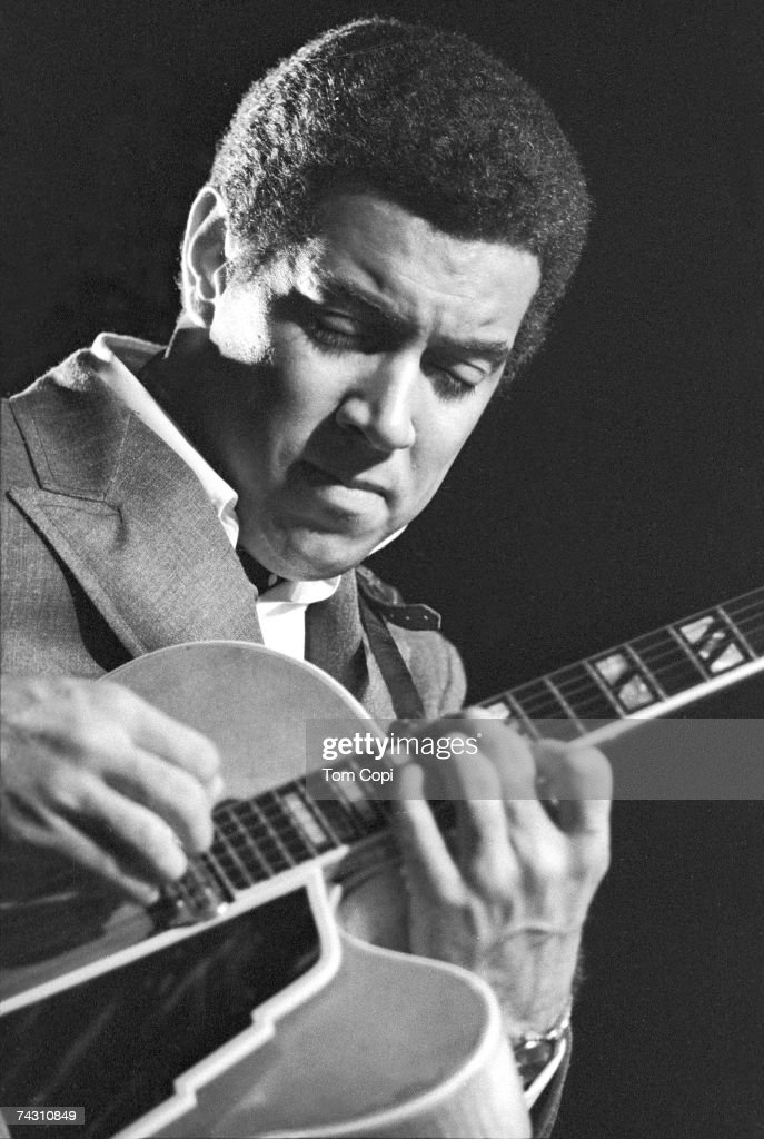 Guitarist Kenny Burrell performs at the Newport Jazz Festival on July 3, 1969 in Newport, Rhode Island.