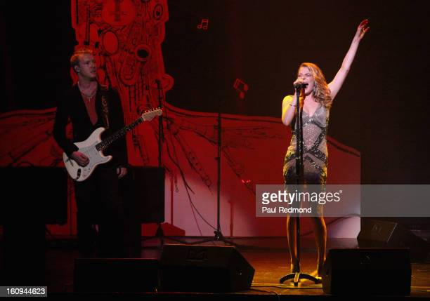 """Guitarist Kenny Wayne Shepherd and singer LeAnn Rimes perform at """"Play It Forward"""" Grammy Foundation's 15th Annual Music Preservation Project at..."""