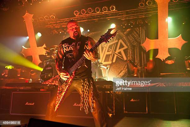 Guitarist Kerry King of Slayer performs at The Fillmore Charlotte on November 23 2014 in Charlotte North Carolina