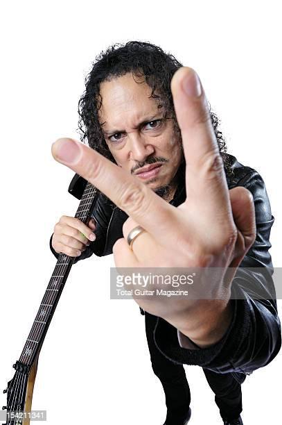 This image has been digitally manipulated Guitarist Kirk Hammett of American heavy metal group Metallica taken on August 24 2008