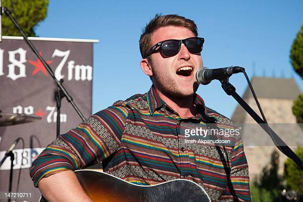 Guitarist Liam Cromby of We Are The Ocean performs at 987FM Penthouse Party Presents A Warped Tour Encore Party Featuring Dead Sara And Friends at...