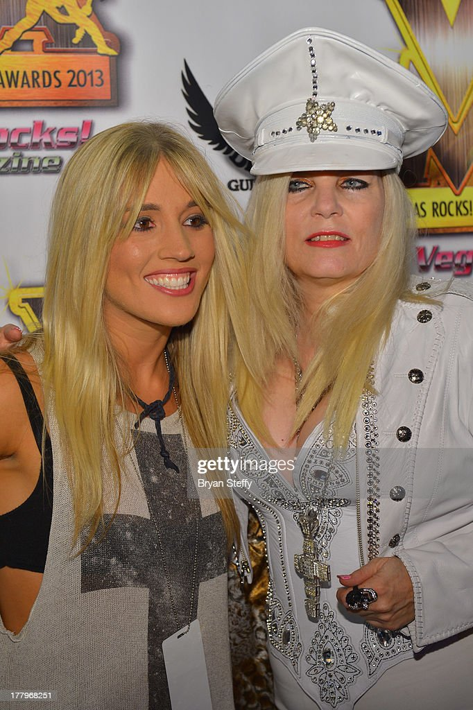 Guitarist Luara Wilde (L) and Sally Steele arrive at the Vegas Rocks! Magazine Music Awards 2013 at the Joint inside the Hard Rock Hotel & Casino on August 25, 2013 in Las Vegas, Nevada.