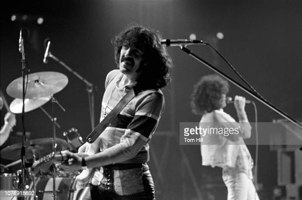 Guitarist Manny Charlton and singerfrontman Dan McCafferty of Scottish hardrock band Nazareth perform at the Omni Coliseum on February 6 1976 in...