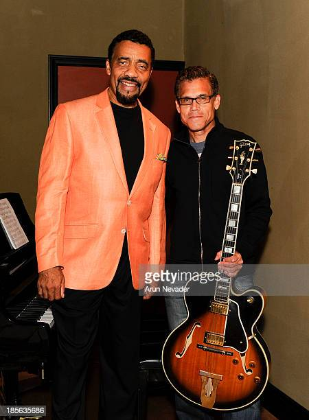 Guitarist Mark Hammond and pianist Bobby Lyle attend the Kaylene Peoples My Man CD recording session featuring pianist Bobby Lyle on October 22 2013...