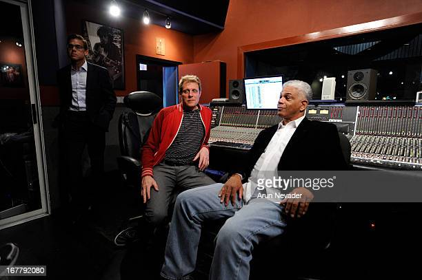 Guitarist Mark Hammond Recording engineer/guitarist Rich Mouser and promoter Verdell Adams attend the Kaylene Peoples My Man Recording Session with...