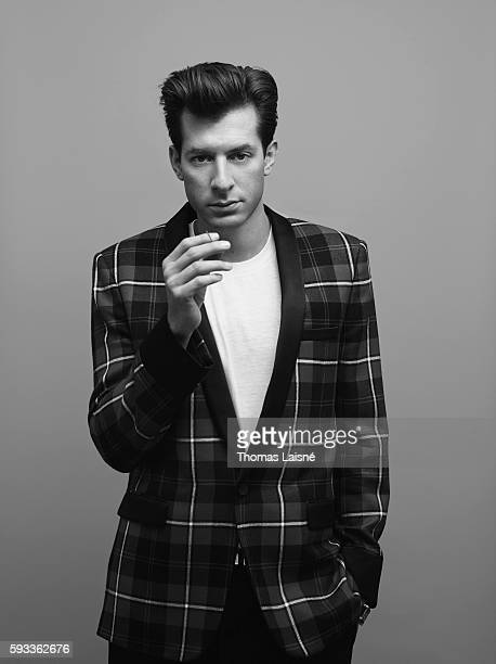Guitarist Mark Ronson is photographed for Self Assignment on December 19 2014 in Paris France