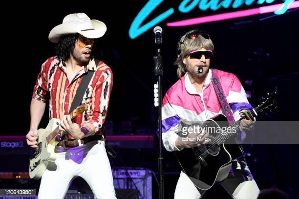 Guitarist Marty Ray Rayro Roburn and recording artist Douglas Doug Douglason of Hot Country Knights perform at The Chelsea at The Cosmopolitan of Las...