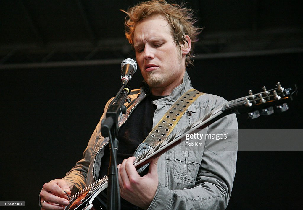 Guitarist Matt Roberts of 3 Doors Down performs on \u0027FOX and Friends\u0027 outside of  sc 1 st  Getty Images & Three Doors Down Performs On